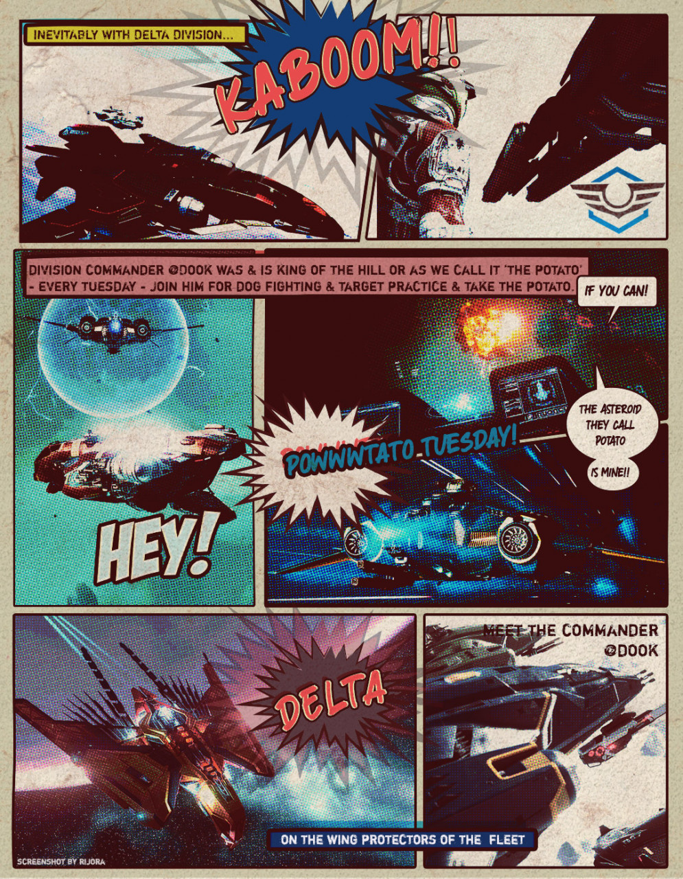 On The Ophelia Vine - Monthly News Strip from DSC - 1st Issue -Delta