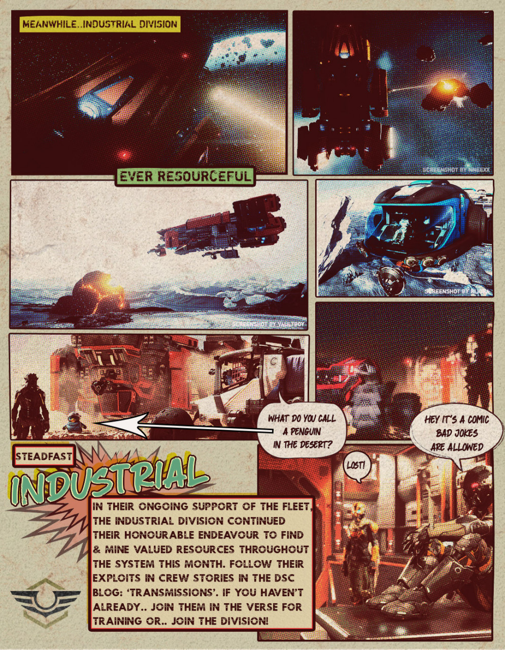 On The Ophelia Vine - Monthly News Strip from DSC - 1st Issue - Industrial